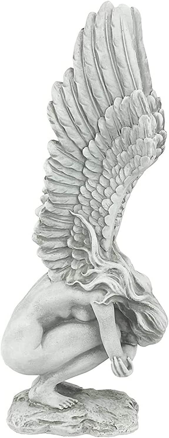 Redemption Angel Creative Sculpture, Angel Wings Floating Figurines Home Decor for Living Room, Angel Statues for Home Decor, Angel Remembrance and Redemption Statue