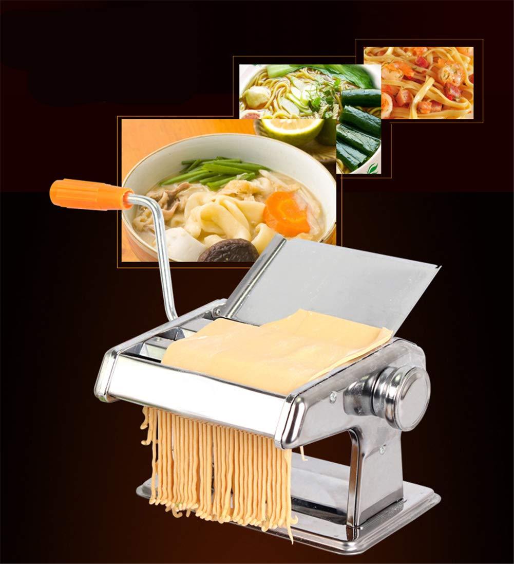 2 Blades #1 Pasta Ravioli Maker Dough Roller for Spaghetti and Lasagna Tagliatelle Fettuccine Silver LaceDaisy Stainless Steel Manual Pasta Maker Machine Noodle Cutter
