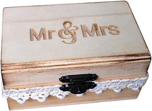 OUNONA - Caja para anillos de boda (10 x 6 x 5 cm): Amazon.es: Hogar