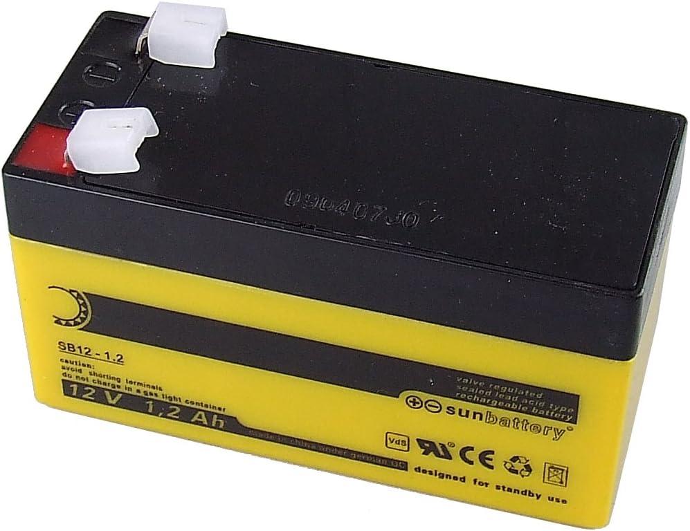 ABUS BT2012 batería para sistema ups Sealed Lead Acid (VRLA) 12 V - Baterías para sistemas ups (Sealed Lead Acid (VRLA), Negro, Amarillo, 1200 mAh, 12 V, VdS, 580 g)