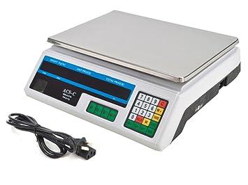 Báscula digital de peso de 60 lb de precio para comida, báscula de carne,