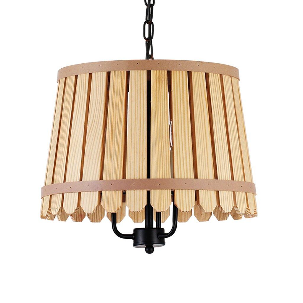 Wooden Single Head Chandelier, Environmental Health, Creative Restaurant Living Room Lights