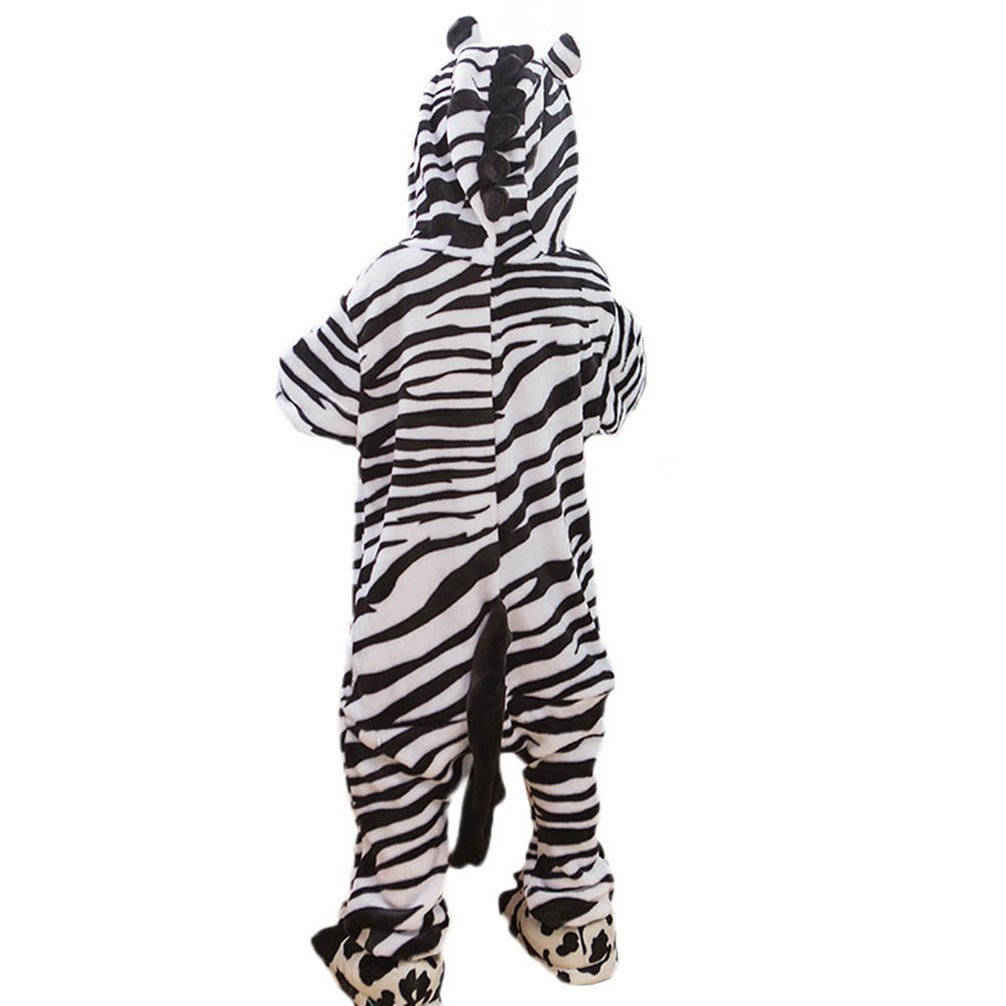 Yamer Winter Homewear Fleece Onesie Boys Zebra Anime Cartoon Pijamas for Cosplay