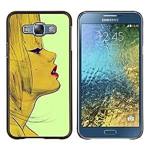 Lèvres - Metal de aluminio y de plástico duro Caja del teléfono - Negro - Samsung Galaxy E7 / SM-E700