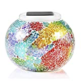 #4: Color Changing Solar Powered Glass Ball Led Garden Lights, Rechargeable Solar Table Lights, Outdoor Waterproof Solar Night Lights Table Lamps for Decorations, Ideal Gifts