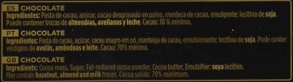 Chocolates Valor - Chocolate negro de 70% cacao - 300 g - [pack de 2]: Amazon.es: Alimentación y bebidas