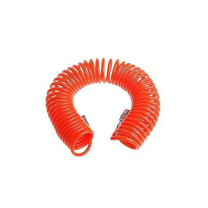 MuZuZi Tubo flexible de resorte de manguera para compresor de aire Accesorios para herramientas neumáticas PU