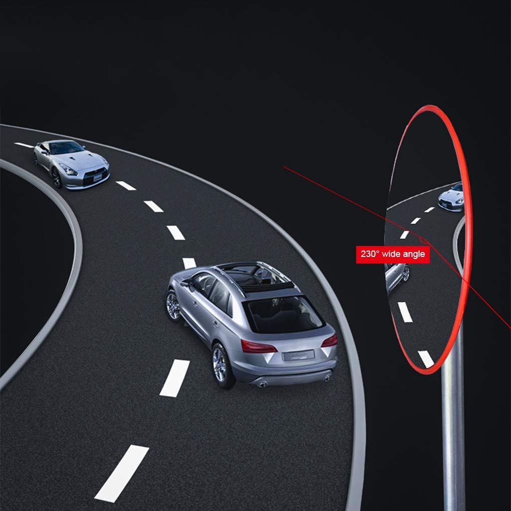 fish 30cm Weitwinkel Sicherheit konvex gekr/ümmte Stra/ße Spiegel Verkehr Auffahrt Signal Verkehrssicherheit