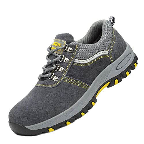 Unisex Hombre Mujer Zapatillas de Seguridad con Puntera de Acero Antideslizante Transpirable S3 Zapatos de Trabajo Comodas Calzado de Trabajo Deportivos ...