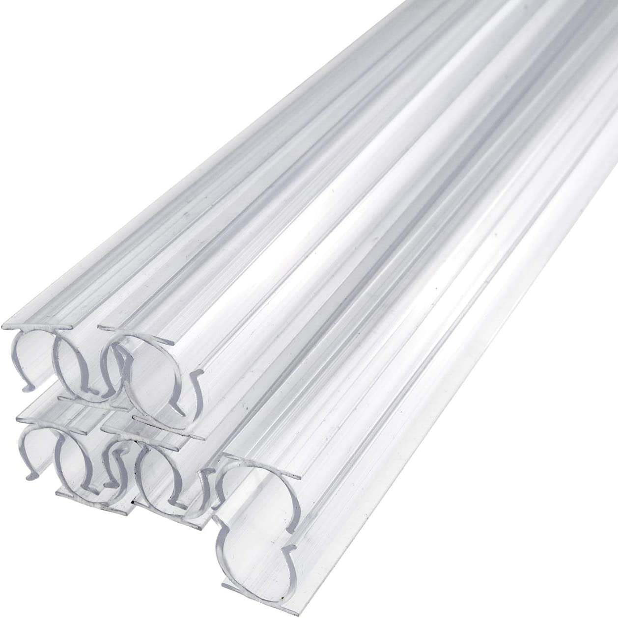 Brilliant Brand Lighting 24 Inch x 1/2 Inch Rope Light Mounting Track - Clear PVC Channel (10 Pack) - 12/120 Volt