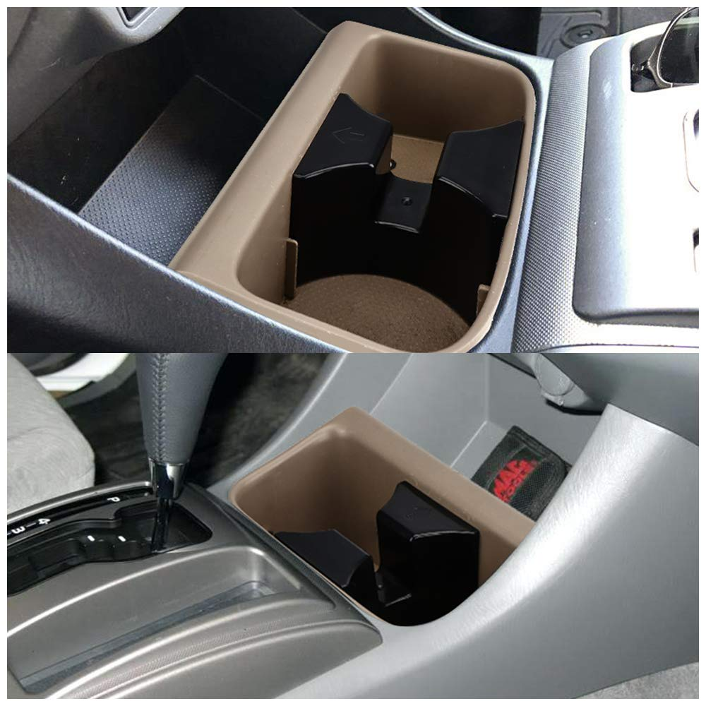 ISSYAUTO Cup Holder Insert for 2005 2006 2007 2008 Tacoma Drink Holder Insert