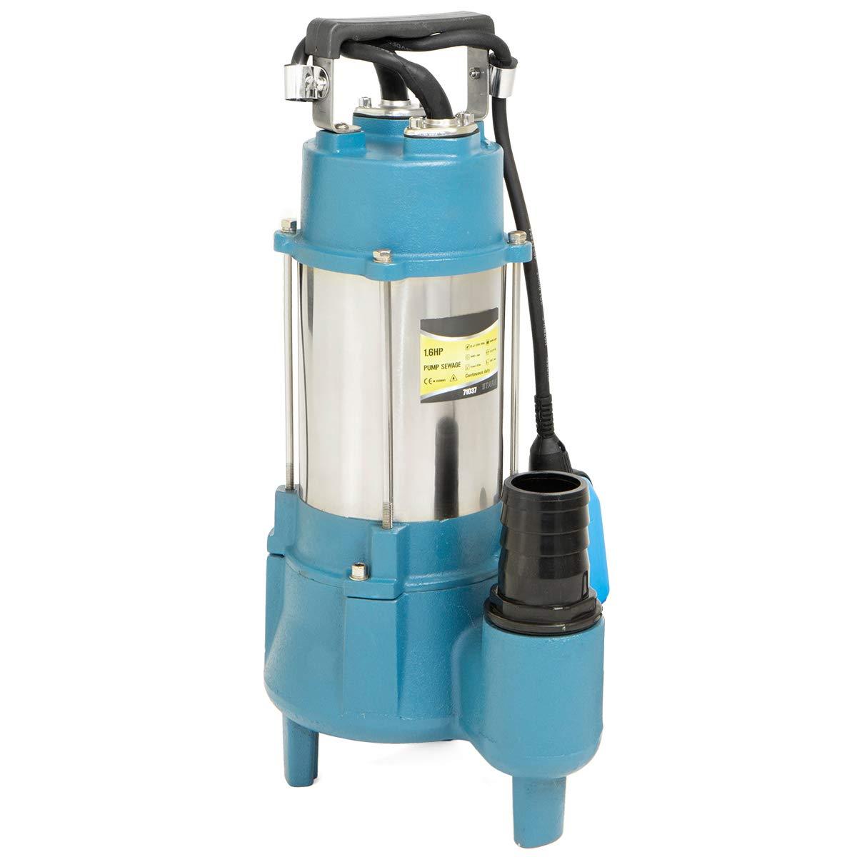 Stark 1.5HP Submersible Sewage Pump 7100 GPH Stainless Steel Heavy Duty Float Switch Garden Sprinkler 1'' inch Outlet, 220V by Stark USA