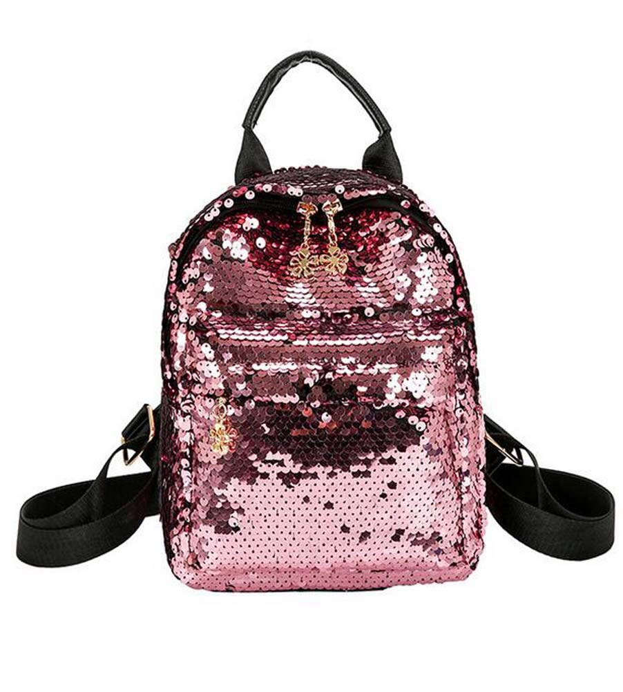233ff470b701 Amazon.com  Santwo Women s Mini Rivets Waterproof PU Leather Shoulder Bag  Casual Daypack Backpack (B-pink)  Santwo Direct