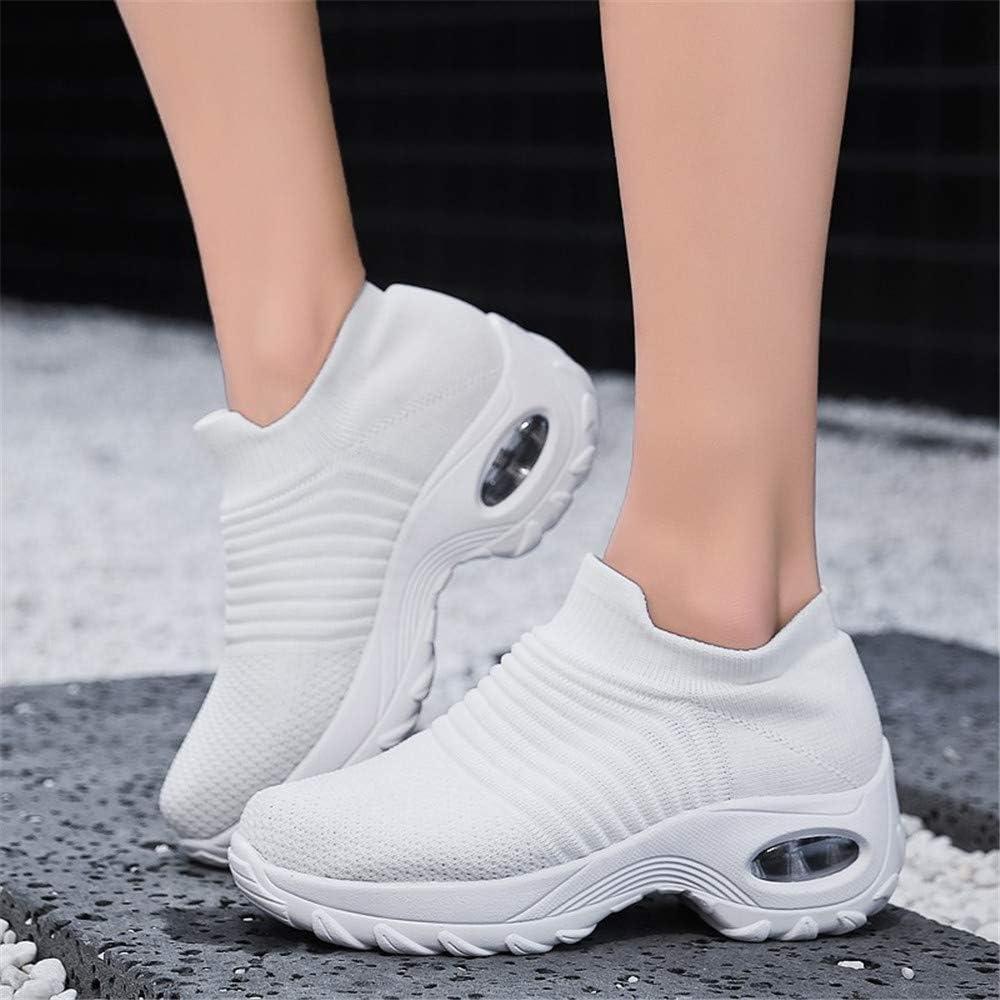 Zapatillas Deportivas de Mujer Zapatos Running Fitness Gym Outdoor Sneaker Casual Mesh Transpirable Comodas Rojas Calzado Azul Negro Azul Rosa Caqui Blanca Talla 35-44