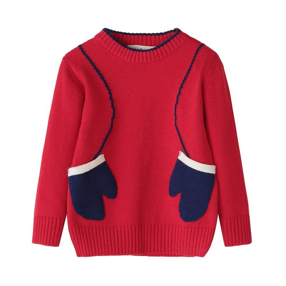 LYLIFE Baby Toddler Boy Girl Knitted Sweater Fall Winter Clothes Kid Glove Print