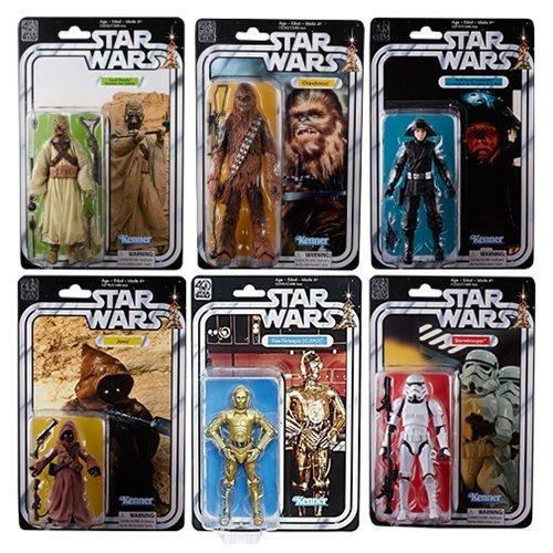 40th Anniversary Set - Star Wars The Black Series 40th Anniversary 6 Inch Figures WAVE 2 SET