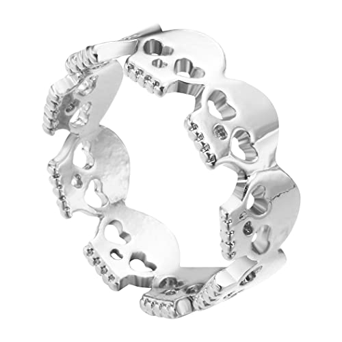 44302ade6 Vintage Simple Unique Silver Skull Ring Minimalism Jewelry Ring for Women  Girl Gift: Amazon.ca: Jewelry