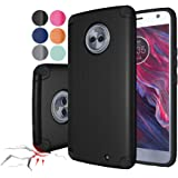 Rebex Moto X4 Case Cover Shock-Absorption Anti-Fingerprint Non Slip Built-in Magnetic Metal Plate Case,Ultra Thin Lightweight Slim Protective Cases Cover for Motorola Moto X4 (Black)
