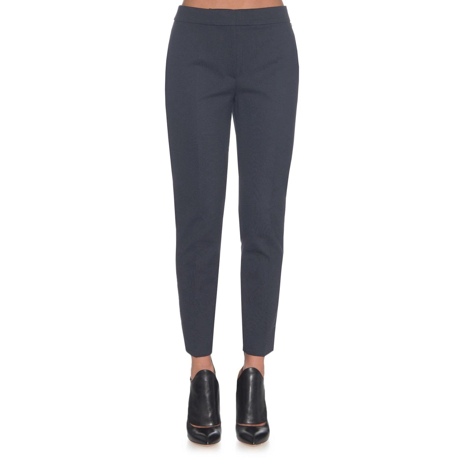 Max Mara Women's Pegno Slim Straight Leg Trousers Sz 14 Oil