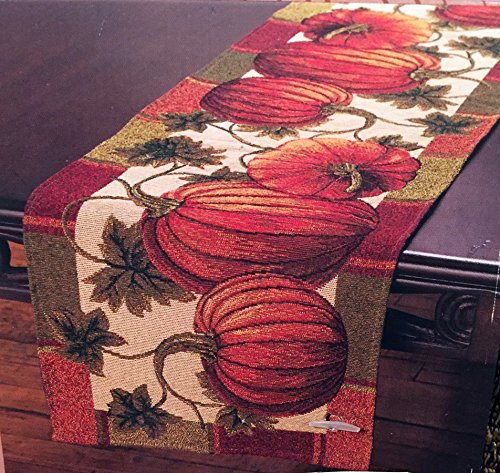 Fall Harvest Pumpkin Tapestry Table Runner 13