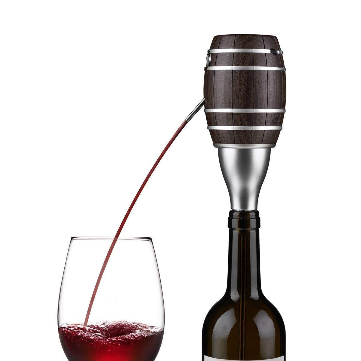 Farway Wine Dispenser Electric Smart Wine Decanter 6 Seconds Fast Sobering Telescopic Suction Pipe Barrel-shape