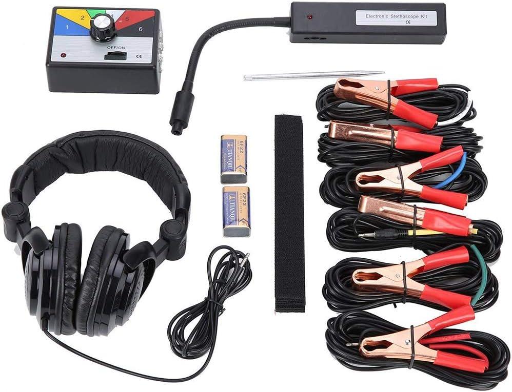 WXS Kit /Électronique Stethoscope Moteur Bruit M/écanique Trouver Diagnostic Oscilloscope Outil 6 Canaux Anormal D/étecteur Sonore Stethoscope