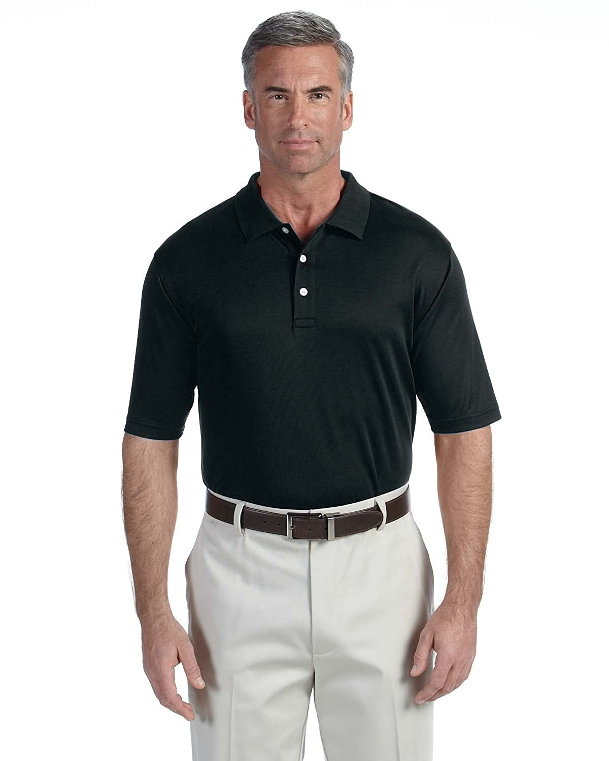 Black 2XL Devon /& Jones DG200 Mens Pima Tech Polo