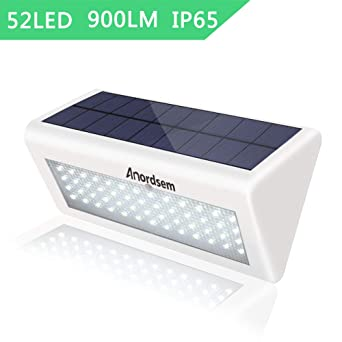 2W LED Solar Lampe mit Bewegungsmelder Outdoor LED Wandleuchte Solarleuchte Akku