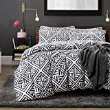 NTBAY Microfiber Queen Duvet Cover Set, Black White Geometric Pattern Deal (Small Image)