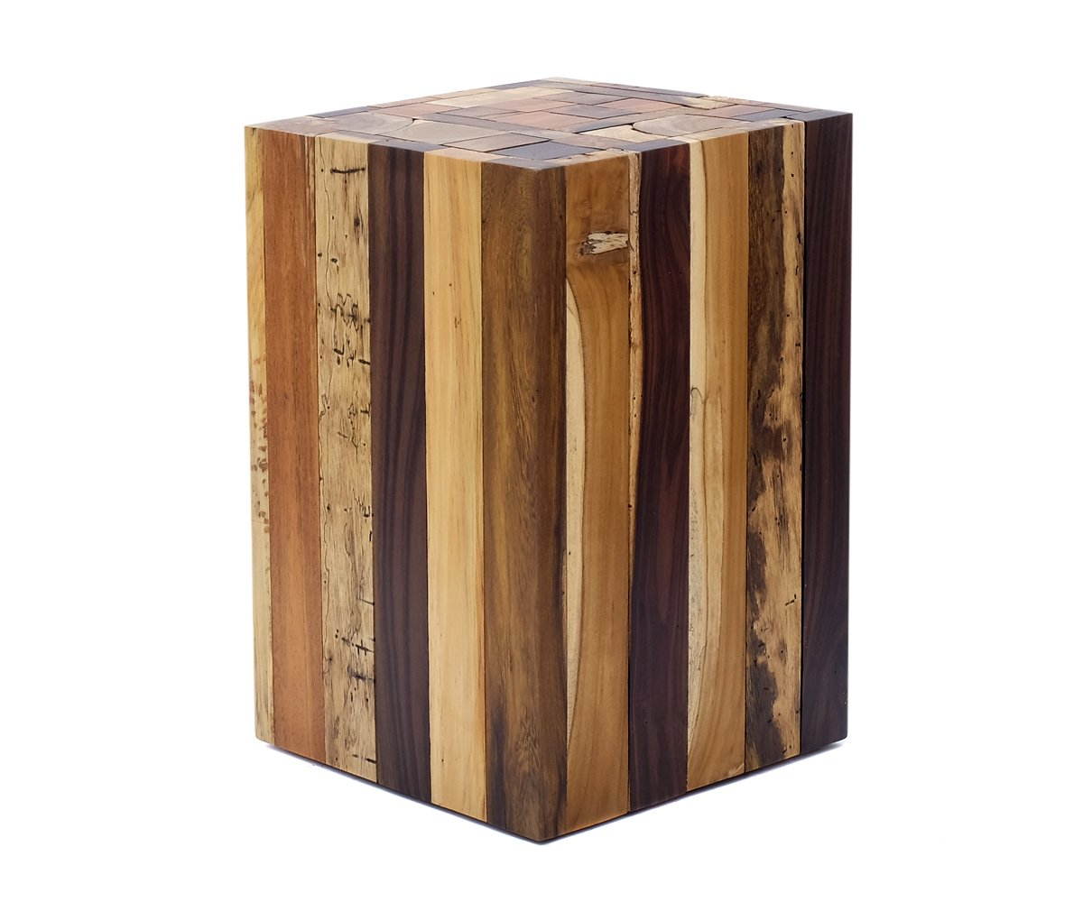 Designer side table made of driftwood - solid, natural, rustic and without chemicals treated - Very robust table and can also be used as a stool Solid wood Stylish high quality processed side table / stool made of driftwood pieces in Handmade. Brillibrum