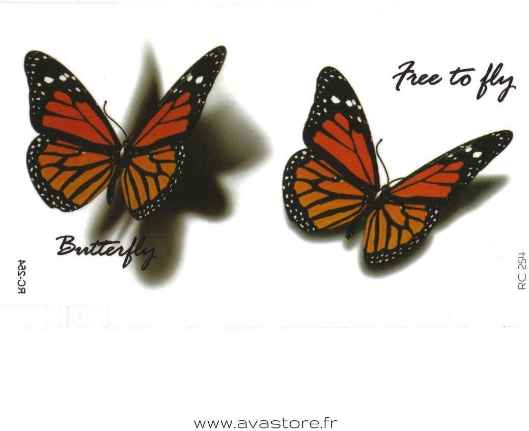 Tatuajes temporales mariposa 3D - Tatuaje efímero mariposa 3D ...