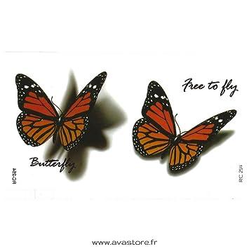 Tatouage Temporaire Femme Papillon 3D Réaliste Tatouage