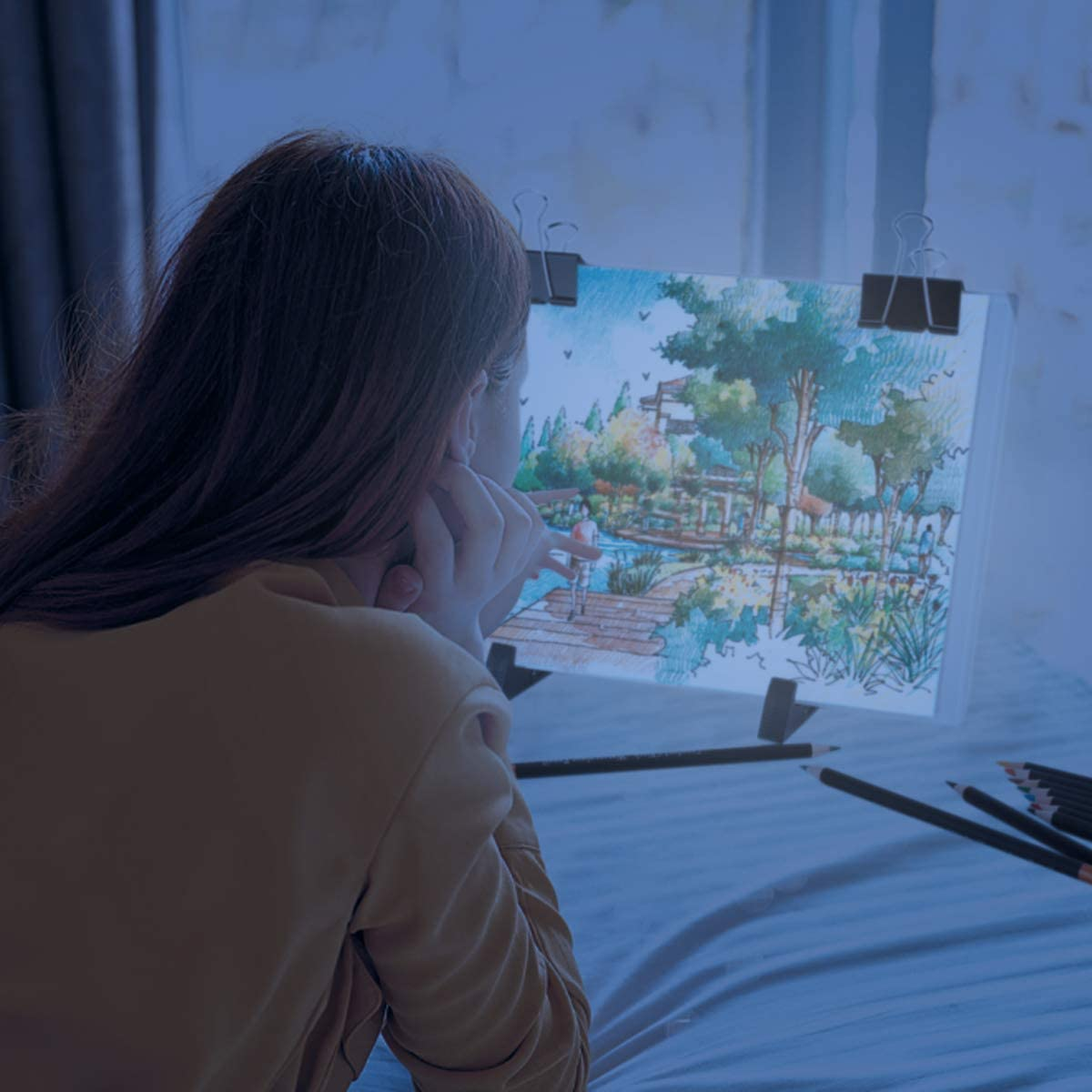 Portable LED Tracing Light Board DIY Dimmable Light Brightness Table,Reusable A4 Painting Pads Best for Artists Drawing,Sketching and Animation Stencilling,Tracing. A4 Led Light Painting Kits
