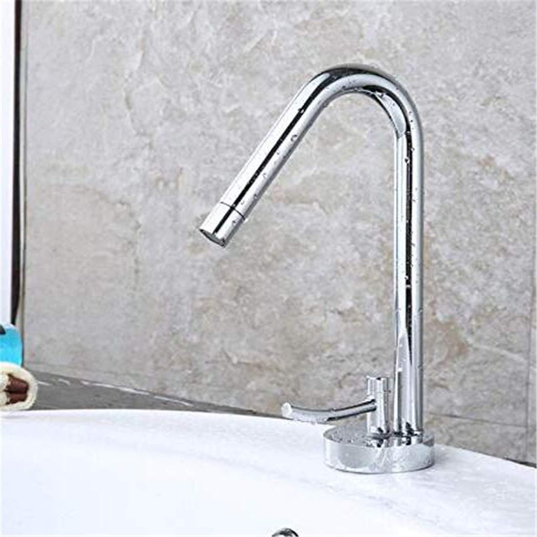 Grifo Cromado De De De Una Sola Palancafaucet Brass Chrome Basin Hot And Cold Faucet Single Hole Single Handle Creative Basin Fregadero De Cocina Mezclador c3a790