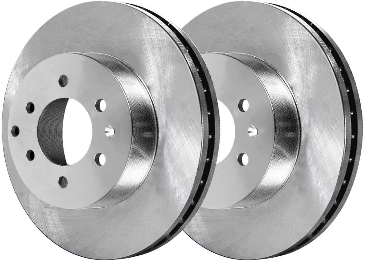 AutoShack SCDR757 Front and Rear Brake Rotors and Ceramic Pads