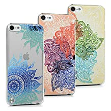 iPod Case iPod Touch 5 Case- MOLLYCOOCLE® 3 X Ps Colorful Painted PC Hard Shell Design Scratch Resistant Protective Clear Ultra Slim Fit Cover for iPod Touch 5 5th Generation