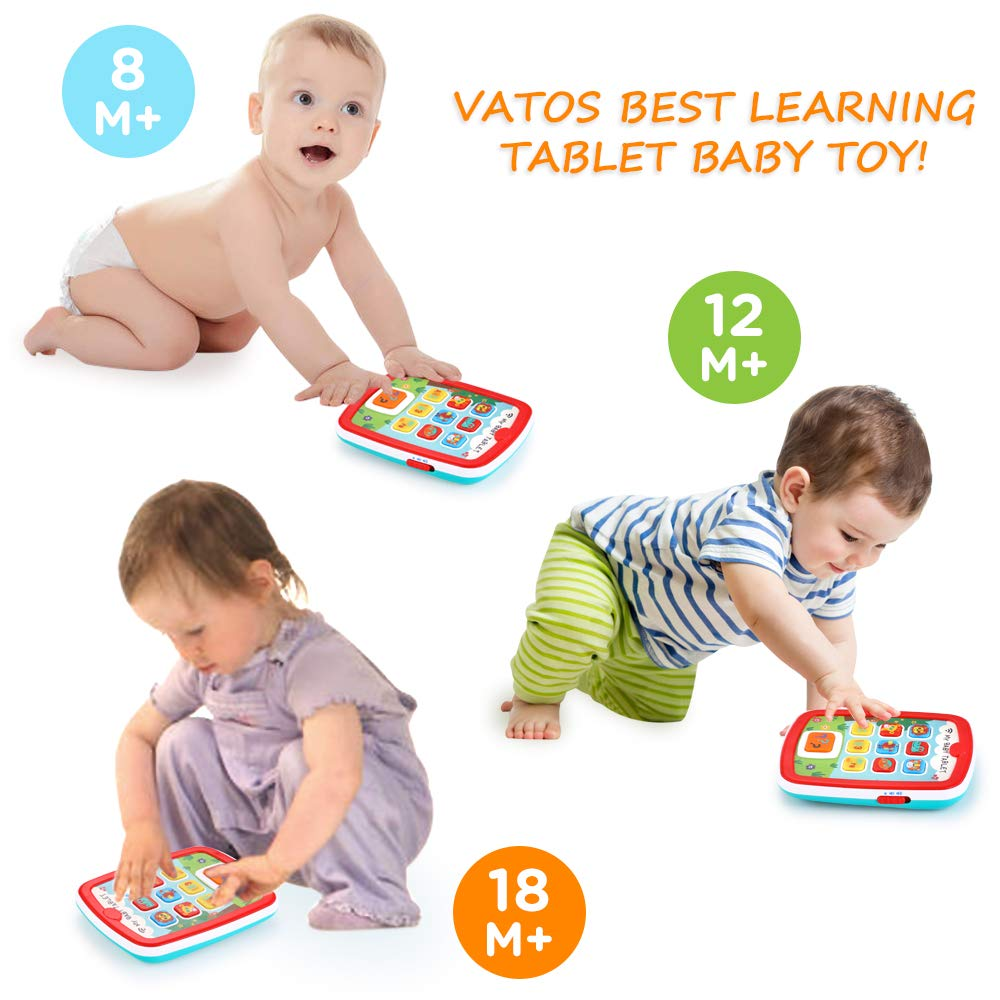Infant Toys Baby Tablet Toys Learning Educational Activity Center for 6  12  18 Month up Boys and Girls with Music Light ABC Numbers Color Games Baby Toys for First Birthday by INSOON (Image #5)
