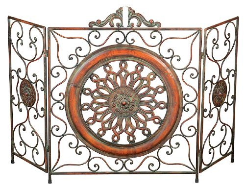 Deco 79 21871 Metal Fire Screen, 35'' H/55 W by Deco 79