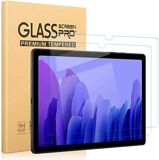 2 Pack SPARIN Tempered Glass Screen protector Compatible with Samsung Galaxy Tab A7 2020 10.4 inch-Easy Tool Included