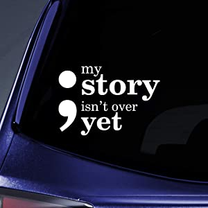 """Bargain Max Decals My Story Isn't Over Yet Sticker Decal Notebook Car Laptop 5.5"""" (White)"""