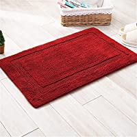 XIAOAI HOME Double-sided thick absorbent mats thick chenille living room floor mat anti-slip bathroom rugs 15 x 23 inch approx