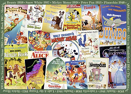 (Ravensburger 19874 Disney Vintage Movie Posters 1000 Piece Puzzle for Adults, Every Piece is Unique, Softclick Technology Means Pieces Fit Together)