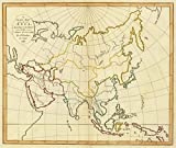 1797 School Atlas | A plain map of Asia, according to the method of the Abbe Gaultier. By Mr. Wauthier, his pupil, 1797. | Antique Vintage Map Reprint