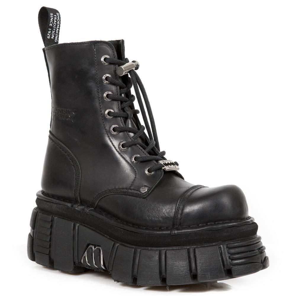 New Rock M.NEWMILI083-S21 Schwarze Gothic Stiefel Military Unisex Half Tower Schuhe