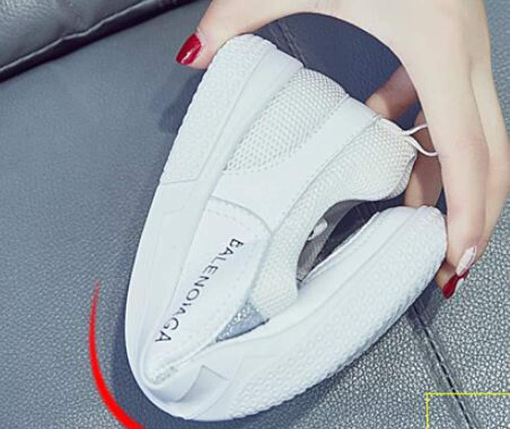 Damen Freizeitschuhe 2018 Sommer Die neuen Mesh Weiß Schuhe Schuhe Schuhe Plattform Sportschuhe Niedrig geschnittene Schnürschuhe Weiß Damenschuhe (Farbe   B Größe   35) a1e0f3