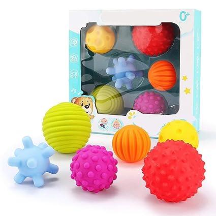 BIYI 6pcs Niños Juguete de pelota sensorial táctil Juguete de ...