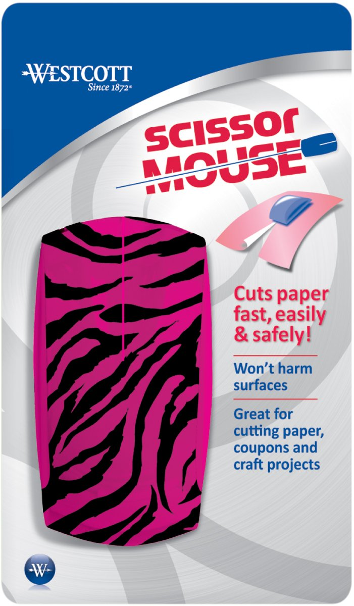 Westcott Scissor Mouse Paper Trimmer, Safe Rotary Cutter for Kids & Crafters, Assorted Colors Acme United 15527