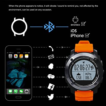Rastreadores de actividad Smart Watch, Bluetooth reloj inteligente, impermeable ritmo cardíaco monitor de presión