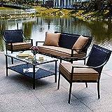 Braddock 4-Piece Patio Furniture Conversation Set, Seats 4 Review