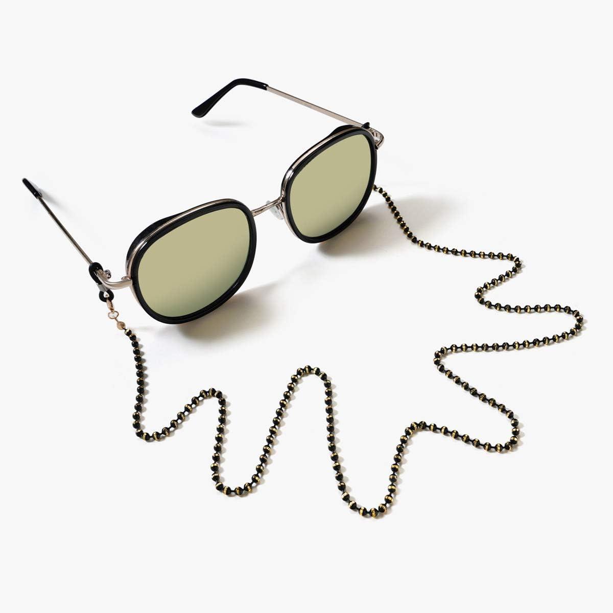 Verde Cuentas Vintage Cadena de Gafas de Sol Gafas Gafas de Sol Correa de Lectura Gafas Cadena para Mujeres